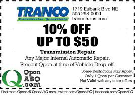 Tranco Transmission Coupon