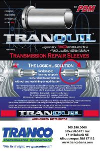 Tranquil transmission repair sleeve from Tranco Transmission Repair